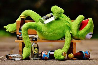 Aktywny konsument żaba Kermit