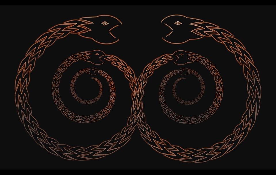Węże zjadająca własne ogony